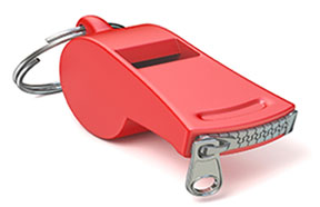 whistle with zipper