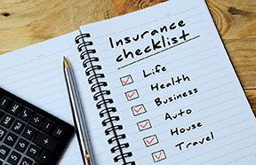 insurance checklist notebook