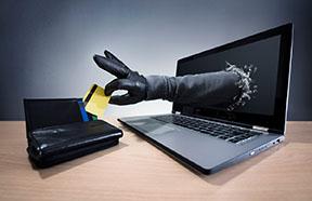 arm stealing card through computer screen